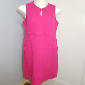 Land's End Hot Pink Sleeveless Keyhole Dress / 16P